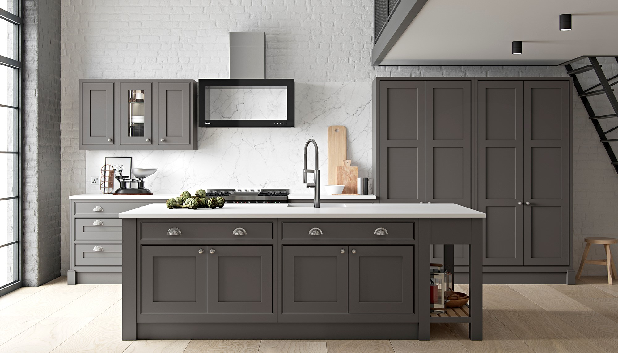 Diamond Grey in-frame shaker kitchen