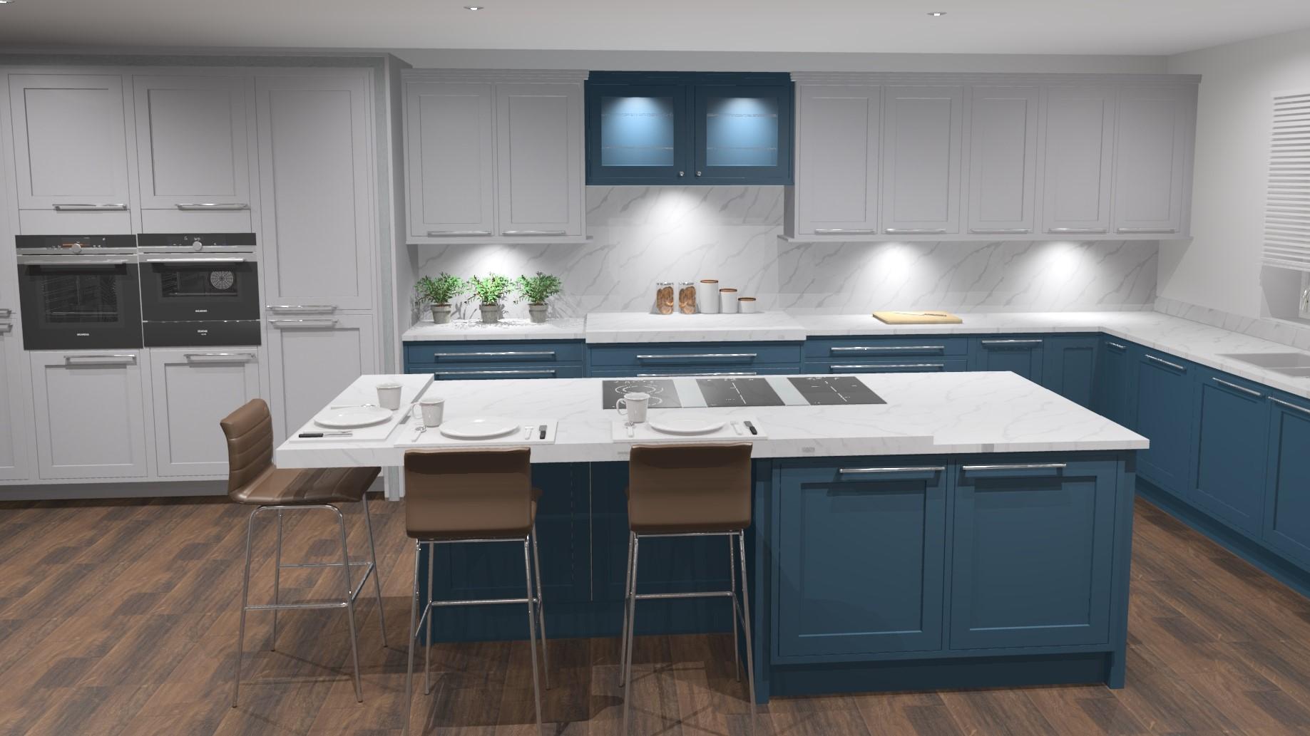 Blue Kitchen design Southampton