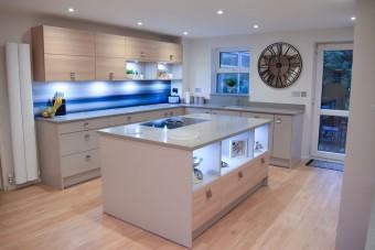 Social modern kitchen design, Southampton