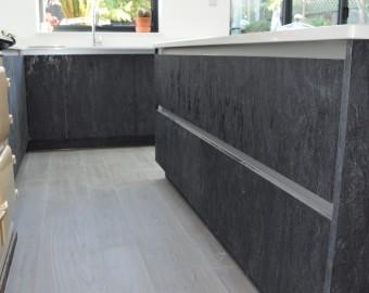 Contemporary kitchen, stone graphite colour, Portsmouth