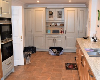 Solid wood oak and grey kitchen, New Forest, Lymington